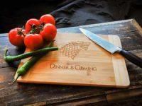 Bambus-skjærefjøl Dinner is Coming Image
