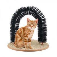 Klø- og børstestativ til katt Image