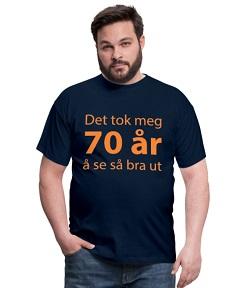 T-skjorte til 70 åring - mann Image