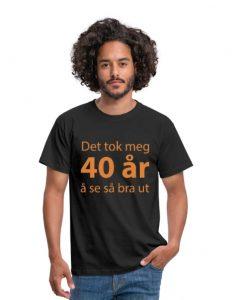 40 år t-skjorte (menn) Image
