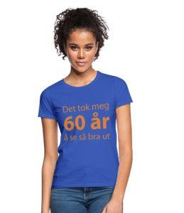 T-skjorte for 60-åring (kvinner) Image