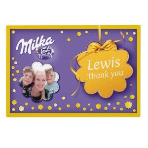 Milka gaveeske med eget navn Image