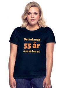 T-skjorte til 55-åring (kvinne) Image