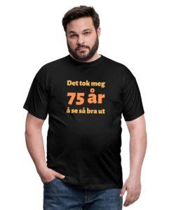 T-skjorte til 75 åring (mann) Image