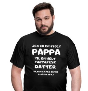 T-skjorte - Jeg er en stolt pappa til en fantastisk datter Image