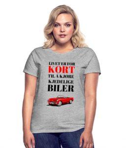 T-skjorte - Livet er for kort til å kjøre kjedelige biler (dame) Image
