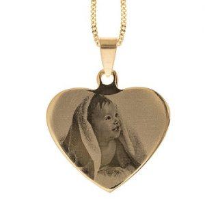 Hjerte-anheng med eget bilde Image