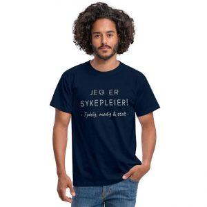 T-skjorte til mann - Sykepleier - Jeg er sykepleier - Tydelig, modig og stolt Image