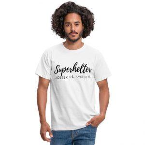 T-skjorte til mann - Sykepleier - Superhelter jobber på sykehus Image