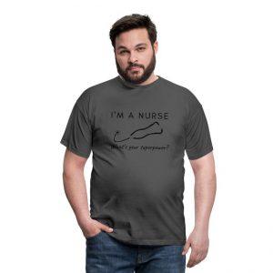 T-skjorte til mann - Sykepleier - I