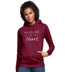 Genser til kvinne - Sykepleier - Nursing is a work of heart Image