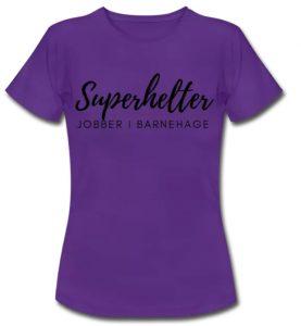 T-skjorte kvinne - Superhelter jobber i barnehage Image