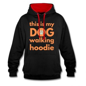 Hettegenser til hundeeier - This is my dog walking hoodie Image