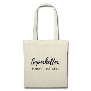 Stoffveske - Superhelter jobber på SFO Image