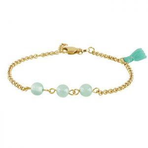 Armbånd med dusk og turkise perler fra Dyrberg/Kern Image