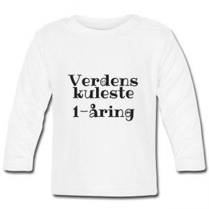Langermet T-skjorte - Verdens kuleste 1-åring Image