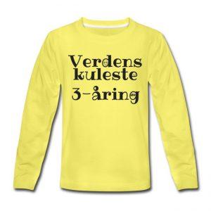 Langermet T-skjorte - Verdens kuleste 3-åring Image