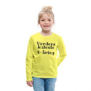 Langermet T-skjorte - Verdens kuleste 4-åring Image
