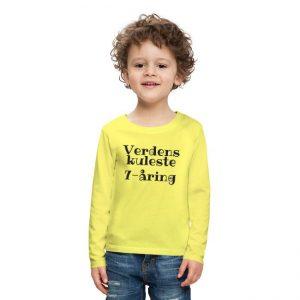 Langermet T-skjorte - Verdens kuleste 7-åring Image