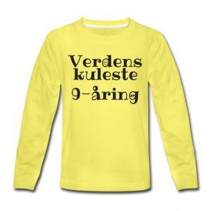 Langermet T-skjorte - Verdens kuleste 9-åring Image
