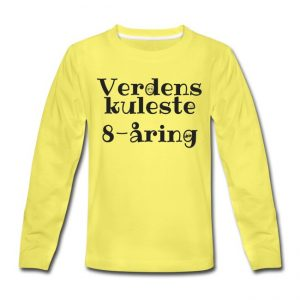 Langermet T-skjorte - Verdens kuleste 8-åring Image