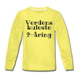 Langermet t-skjorte - Verdens kuleste 2-åring Image
