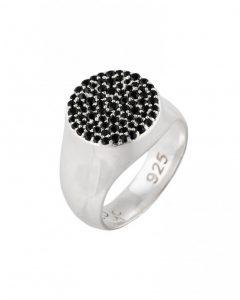 Ring Black Stones Signet Image
