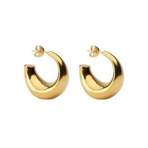 Smykke - Ørepynt, Lekre, chunky gull hoops Image