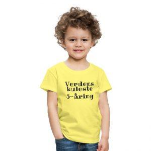T-skjorte - Verdens kuleste 5-åring Image