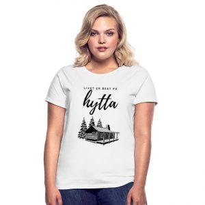 T-skjorte for kvinner - Livet er best på hytta Image