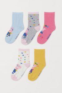 5-pack sokker - Peppa Gris Image