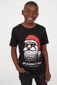 T-shirt med juletrykk Image