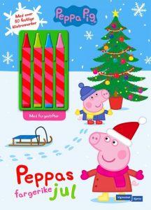 Peppas jul. Med fire fargestifter og over 30 klistremerker Image