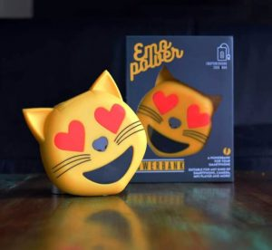Emoji Powerbank Hearteyes Katt Image