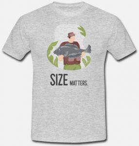 T-skjorte til fisker - Size matters Image