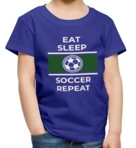 T-skjorte barn - Eat, Sleep, Soccer, Repeat Image