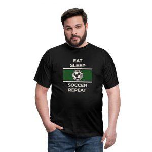 T-skjorte mann - Eat, Sleep, Soccer, Repeat Image