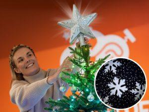 Spralla® juletrestjerne med projektor Image