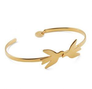 Gullarmbånd dekorert med nydelige fugler Image