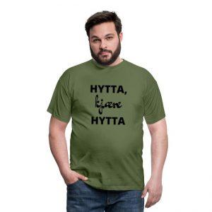 Hytta, kjære hytta - T-skjorte for menn Image