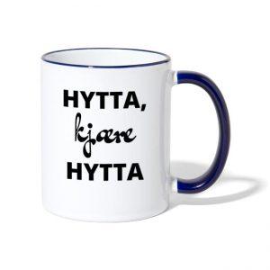 Hytta, kjære hytta - Tofarget kopp Image