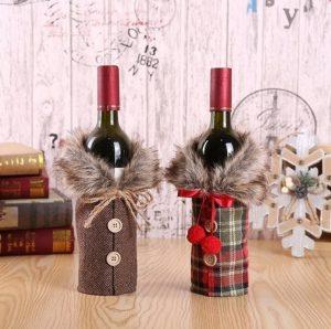 Juleovertrekk til vinflaske Image