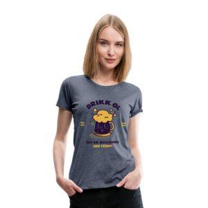 T-skjorte for kvinne - Drikk øl - det er billigere enn terapi Image