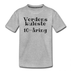 T-skjorte - Verdens kuleste 10-åring Image