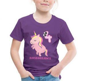 T-skjorte til 4-åring - Bursdagsjente Image