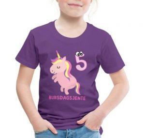 T-skjorte til 5-åring - Bursdagsjente Image