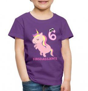 T-skjorte til 6-åring - Bursdagsjente Image